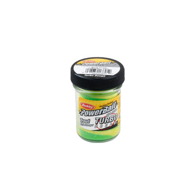 PowerBait Turbo Dough with Glitter - Spring Green Yellow