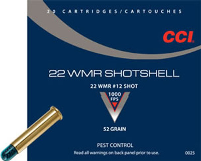 CCI Shotshell, 22 WMR, #12 Shot