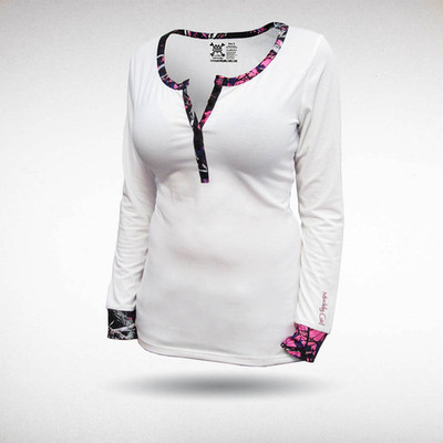 Moonshine Attire Muddy Girl Henley, White