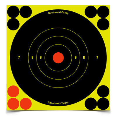 "Birchwood Casey Shoot-N-C 6"" Bullseye, 12 pk"