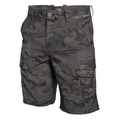 UA Fish Hunter Cargo Shorts In Black