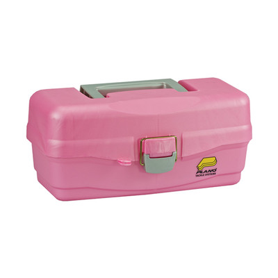 Plano Lift-Out One Tray Tackle Box, Pink