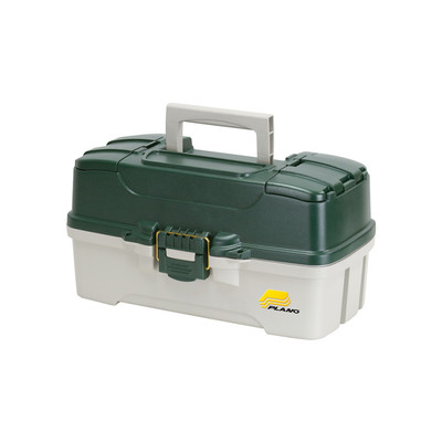 Plano Three Tray Tackle Box, Green/White