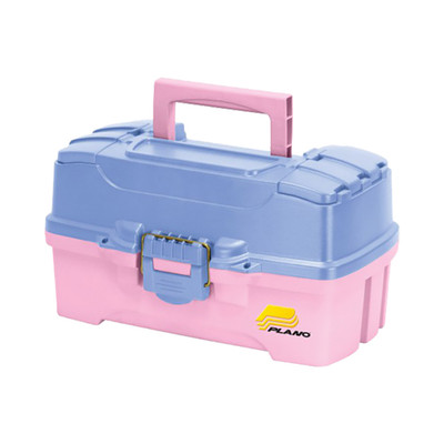 Plano Two Tray Tackle Box, Periwinkle/Pink