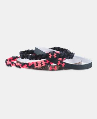 UA Womens Outdoor Headbands, Black/Pink