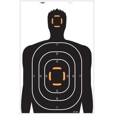 "Allen EZ Aim Human Silhouette Target, 4 pk, 23 x 35"""