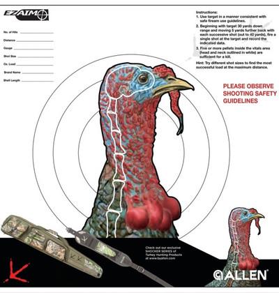 "Allen EZ Aim Turkey Target, 12 x 12"", 6 pk"
