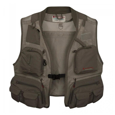 Redington First Run Fishing Vest, Grit/Terra - Front View