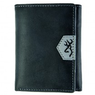 Browning Black Leather Tri-Fold Wallet