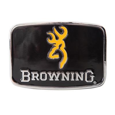 Browning Men's Black and Gold Enamel Belt Buckle