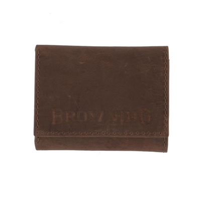 Browning Western Leather Tri-Fold Wallet