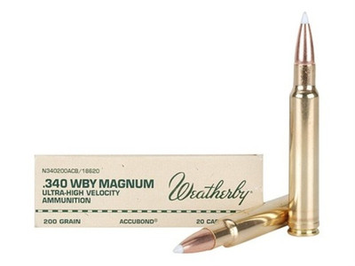 Weatherby Ammo, 340 Wby Mag, 200 Gr Accubond