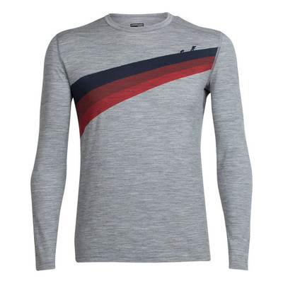 Icebreaker Men's Oasis LS Ascen Crewe - Metro Heather