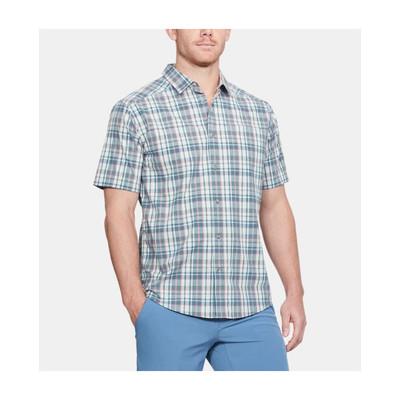 UA Legacy SS Woven Shirt In Bass Blue
