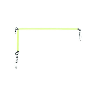 "Gibbs Halibut Spreader Bar, Stainless Steel, 20"" x 8"", Glow"