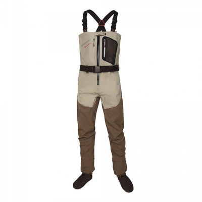 Redington SonicDry Fly Zip-Front Wader, Grit/Tannin