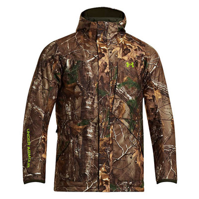 UA ColdGear Infrared Scent Control Gunpowder Jacket In RealTree Xtra