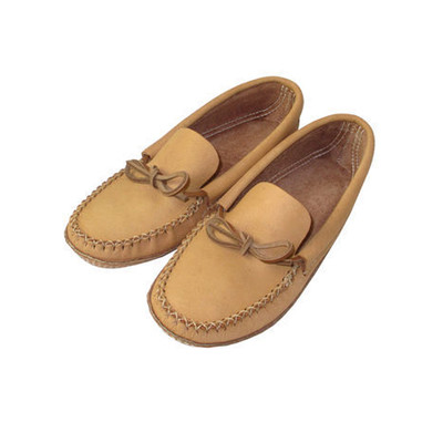 Men's Leather Moccasin With Rubber Sole