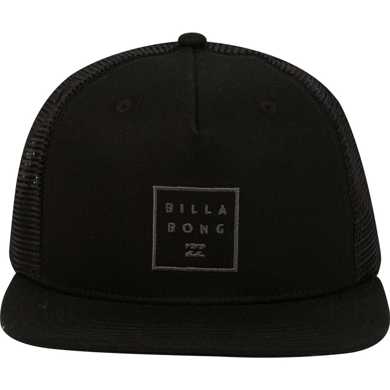 1d6f7f2ddc6 Billabong Stacked Trucker Hat Black Stealth OneSize ...