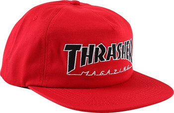 Thrasher Outlined Hat Red Black White Snapback  1054746f5e3a