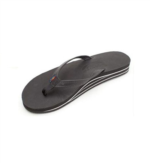 22a5b4b429a6 Rainbow Sandals 302 Altsn Narrow Strap Womens Black