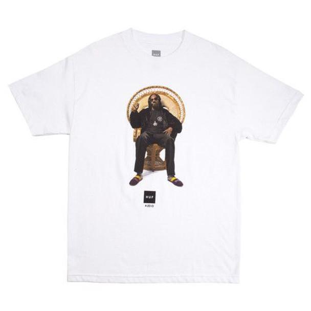 Huf X Snoop Dogg 420 SS TShirt White Medium