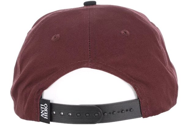 Anti Hero Reserve Patch Hat Brown Black Embroidered Snapback