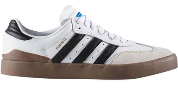 Adidas Busenitz Vulc skate zapatos blanco negro Gum boardparadise Samba