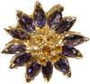 Daisy Ring-Sterling Silver & Semi Precious Stones