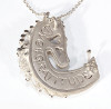 Magic Mane horse head necklace in sterling silver, shown from the back.   Look for the best in every person, and you will find unexpected magic. Look for the best in every situation, and you will find opportunity everywhere. Have gratitude for your blessings, too often taken for granted, and you will find joy multiplied.
