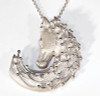 Magic Mane horse head necklace in sterling silver with a diamond eye.