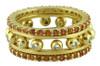 Crown Ring-Narrow-Hugging dots-18K
