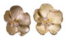 Metal petals- Pansy earring-Large-18k