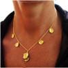 Metal petals. 7 Petal Necklace-18K