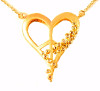 Peace of Heart Necklace - Small - 18K gold with diamonds