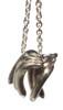Drop the Banana- Chimp necklace- Sterling Silver- 18K gold plate banana & diamond dot