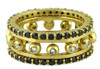 Crown Ring-Narrow-Hugging dots-14K