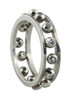 Crown Ring-Narrow-Hugging dots-Sterling with plate options