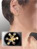 Fireworks-9 earrings-14K gold with diamonds