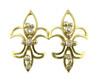 Fleur De Lis Earrings-14K
