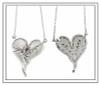 Hearts-Lucky Break Necklace-Medium-Diamonds, Sterling, 18K or rhodium plate