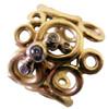 Peace, Love and Abundance-Ring-Wide-18K and diamonds