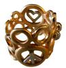 Peace, Love and Abundance-Ring-Wide-14K with diamonds