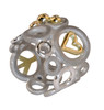 Peace, Love and Abundance-Ring-Wide-sterling, diamonds, solid 18K