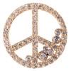Peace in Abundance Pendant. Diamond Peace Symbol with Overflowing Diamond Dots . 18K gold