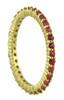 Stacking Rings-Sapphires-Pink or Orange-18K