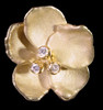 Metal petals- Pansy Bracelet on pearls-Sterling with plate options
