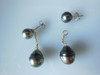 Tahitian pearl stud earrings from Bora Bora