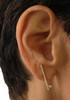 Dot & Line- 18K gold & diamond inspirational earrings