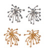 Superstar earrings in silver and gold with diamonds.  From The Fireworks Jewelry Collection.  Life is a Celebration.  Celebrate with celebration jewelry.